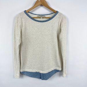 Ann Taylor LOFT Pullover Sweater Shirt Hem 3600